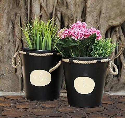Store Indya, Ensemble decoratif de 2 planter pour les accessoires exterieurs de decoration interieure de