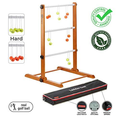 Preisvergleich Produktbild Ubergames Original 2019 Leitergolf Spiel - Top Qualität Leiterspiel Wurfspiel - mit offizielle Golf Bolas (Gelb und Orange)