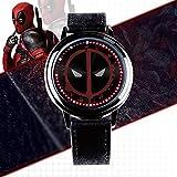 Action Figures Deadpool LED Touch Screen Watch, Avengers 4 Orologio Elettronico Impermeabile Orologio Tondo Regalo A
