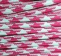 Textilkabel Stoffkabel fuchsia Zick Zack , 3-adrig rund , 3x0,75