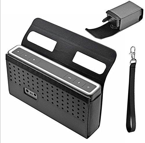 Poschell Schwarz aus Nylon Tasche für Bose SoundLink 3 III Bluetooth Speaker und Zubehör