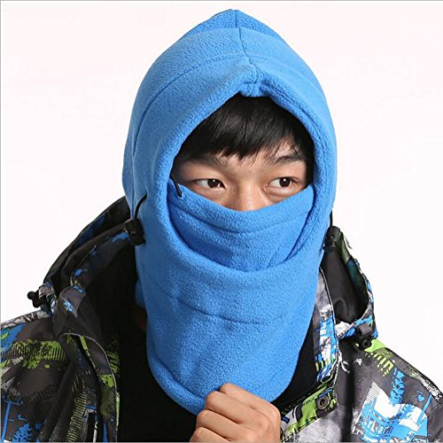 Richoose Windproof Face Mask Cover Caps Adult Winter Warm Face Cover Neck Warmer Ski Hat Winter Outdoor Ski Mask Headcover,Blue
