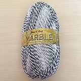 James C Brett Marble DK MT1 Black / Grey / White