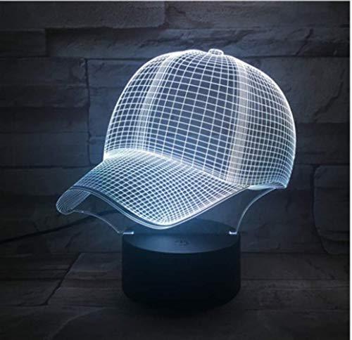 Illusion LIEBE Weihnachten Cutomized 3D Lamp Baseball Cap ohne Logo Bestes Geschenk für Kinder Atmosphäre 7 Farbe mit Remote Led Nachtlicht Lampe