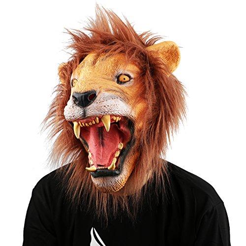 XIAO MO GU Halloween Maske latex Löwe Tiermaske (Maske Löwe Kostüme)