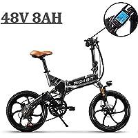 eBike_RICHBIT 730 Bicicletas Plegables Ciudad cercanías Ciclismo 250W 48V 8AH Gris