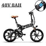 eBike_RICHBIT Aktualisiert 730 E-Bike, E-Fahrrad, Elektrofahrrad, Faltrad Fahrrad, Stadtrad, Citybike, Unisex, Herren, Damen (Grau)