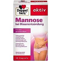 Doppelherz Mannose Kapseln 500 mg / Natürliche D-Mannose zur Unterstützung der Behandlung und Vorbeugung bei Blasenentzündungen... preisvergleich bei billige-tabletten.eu