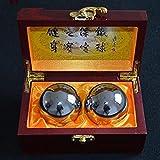 sincek gama alta de madera caja de embalaje de 56mm Baoding Bolas chinas salud ejercicio bolas de estrés