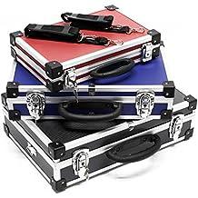 Juego de maletas de aluminio Cajas de herramientas Color negro azul y rojo 3maletines