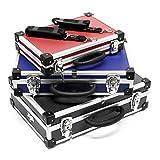 Set di 3 valigette per attrezzi Alluminio cassetta custodia utensili blu nero rosso