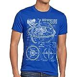 style3 Deep Space Nine Herren T-Shirt Trek Trekkie Star, Farbe:Blau, Größe:4XL