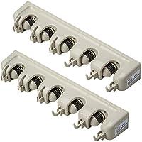 TecTake Soporte dispositivos para para mango herramientas de jardín 40,5x6x10,5cm - varias cantidades - (2 piezas   no. 401819)