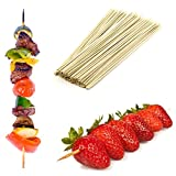 100 Large 25cm Bamboo Wooden Skewers Great For BBQ, Kebabs, Fruit, Chocolate Fountains & Fondues