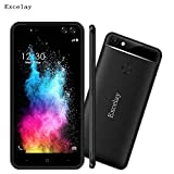 Unlocked Smartphone, Colorful 5.5 Zoll 1GB+16GB Android 7.0 MTK6580M Quad Core Smartphone (Schwarz)