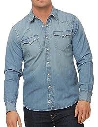 Levi's L/S Barstow Western Shirt, Camisa Casual de Manga Larga para Hombre, Null, Null