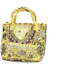 Shubhangi Women's Handbag (Jaipuri Embridered Handicraft Traditional Handbag,Shoulder Bag,Multi-Coloured, R32058YWL...
