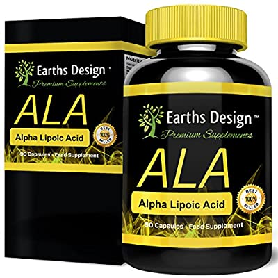 Alpha Lipoic Acid, ALA is a Powerful Antioxidant that Destroys Free Radicals, It Increases Glucose & Creatine Absorption in Muscles During Workouts, Increases Your Pump & Burns Fat, 250mg, 90 Capsules