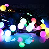 #4: MJR Round Bulb Shape LED Light - RGB - 15 Meter / 49 Feet LONG light for Parties / Puja / Christmas / New Year / Diwali