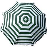 Greenbay Patio Giardino Ombrellone da spiaggia parasole ombrello parasole inclinabile pieghevole verde-bianco