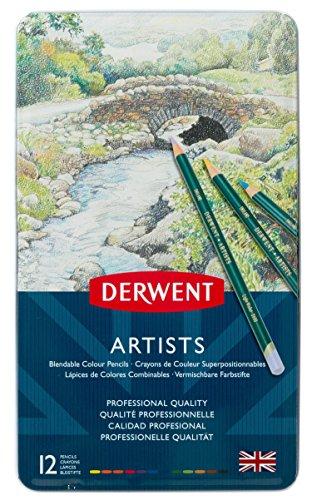 Derwent Artists Buntstifte in Metallbox, 12 Stück
