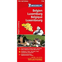 Michelin Belgien Luxemburg: Straßen- und Tourismuskarte (MICHELIN Nationalkarten)