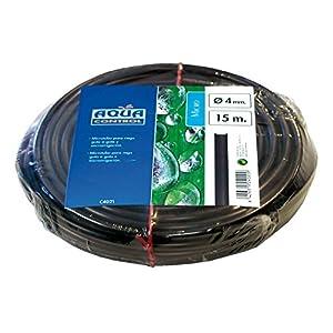 Aqua Control C4021 – Rollo de 15m de micro tubo de 4mm para riego por goteo