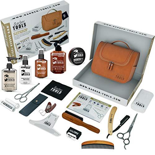 Scopri offerta per  BARBER TOOLS Kit/Set/Cofanetto per la cura e manutenzione della barba e radersi | Cosmetici Made in France