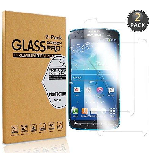 [2 Pack] Owbb® Pellicola Vetro Temperato Per Samsung Galaxy S4 Active , Glass Screen Pellicola Protettiva 9H Durezza 99% Alta trasparente 0.26mm 3D Touch Compatibile Per Samsung Galaxy S4 Active