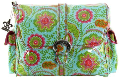kalencom-laminated-buckle-changing-bag-wildflower-garden-aqua-by-kalencom