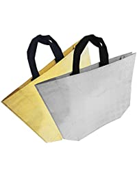 Majik Lunch Box Carry Bag For Office For Women (Gold+Silver), 35 Gram, Pack Of 1