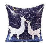 DIY Alpaca Glitter Paillettes Cuscini decorativi Cuscino,Yanhoo Copricuscini decorativi da...