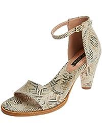 NEOSENS da donna S990 Fantasia floreale Grigio montua Sandali Con Cinturino alla Caviglia UK 5