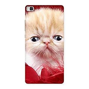 Kitty In Red Fur Back Case Cover for Huawei P8