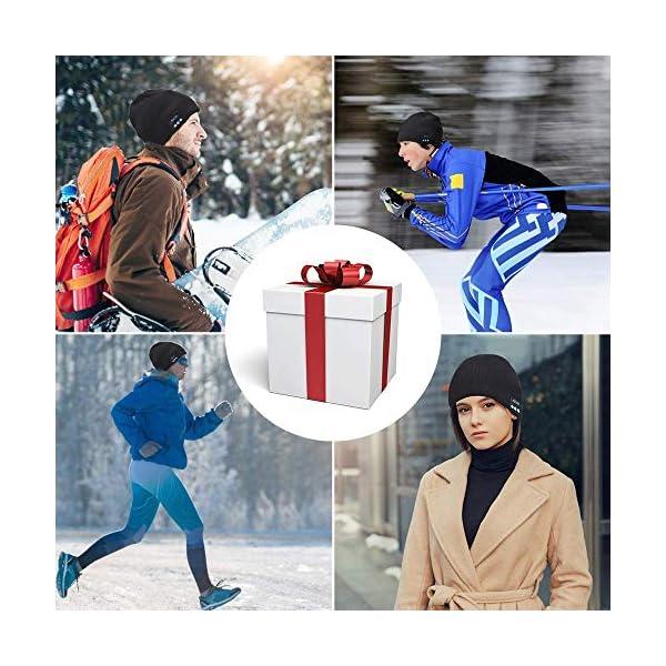 Cappello Bluetooth Idee Regalo Natale Uomo Berretto Uomo Donna Invernali, Berretto Bluetooth 5.0 Musica Cappello… 4 spesavip