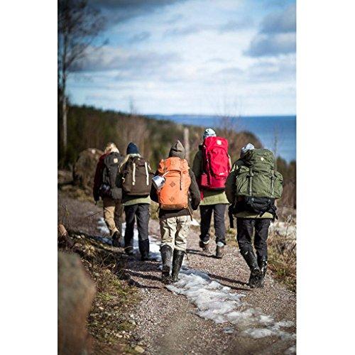 Fjällräven 24206-356_Dark Garnet_15 x 29 x 52 cm, 30 liters - Zaino da trekking unisex, Taglia unica, colore: Viola Rosso granato scuro Black