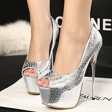 Moda Donna Sandali Sexy donna estate tacchi Glitter Dress Stiletto Heel Sequin Black / Silver Altri Black