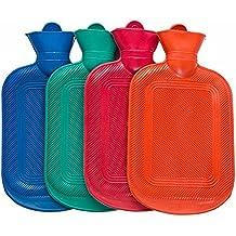 Richoose espesamiento botellas de agua caliente con suave extraíbles cubiertas a prueba de fugas de invierno caliente botellas de agua caliente para niños de color al azar de adultos