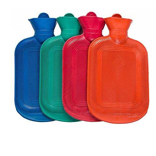 Preisvergleich Produktbild Richoose verdickende Heißwasser-Flaschen mit weichen entfernbaren Abdeckungen Leck-sichere Winter-warme Heißwasser-Flaschen für erwachsene zufällige Farbe der Kinder