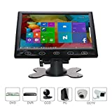 CCTV Monitor 7 Inch HDMI Monitor 16: 9 Screen 1024 * 600 BNC AV VGA Input Touch Button/Built-in Speaker for Raspberry Pi, House Security, CCTV Camera, PC Display, By WHOLEV