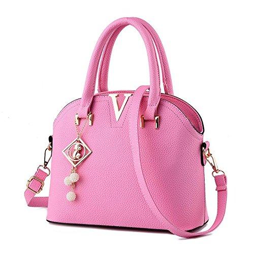 HQYSS Borse donna Gli stereotipi coreano OL pendolari donne croce corpo tracolla Messenger Handbag , purple taro pink
