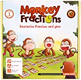 MONKEY FRACTIONS card game to introduce fraction skills STEM toy Maths resource for kids 6 years and up