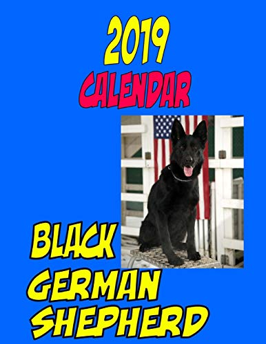 (2019 Calendar Black German Shepherd: Personal Contacts, password log, notes, to do list, and more)