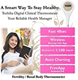 Toshiba Fertility Thermometer - Predict Ovulation, BBT Charting, Fertile, Infertile and Menstrual Periods (Phone app for iOS, Android)