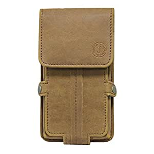 Jo Jo A6 Nillofer Series Leather Pouch Holster Case For ZTE Blade D Lux Tan