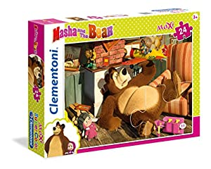 Clementoni 24492-Puzzle Masha y Oso