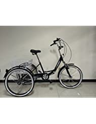 """Adults folding tricycle, 24"""" wheels, 6 speed shimano gears, adult trike, VARIOUS COLOURS AVAILABLE"""