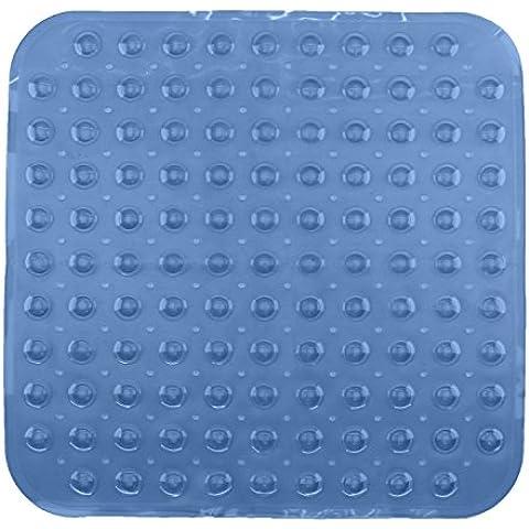 Tappetino per vasca da bagno tappetino doccia tappetino doccia con noppem bianco, nero, grigio, melange, grigio trasparente e trasparente/Blu ca. 53x 53cm e circa 70x 38cm di Brand SELLER, Vinile, blu trasparente, Dusche: ca. 53x53