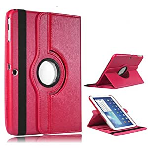 PU Leather Shell Full Body safety Stand tab 3 Case Cover For Samsung Galaxy Tab 3 2014 Edition Model GT-P5200 GT-P5210 GT-P5220 Free Screen Protector & Stylus - Pink