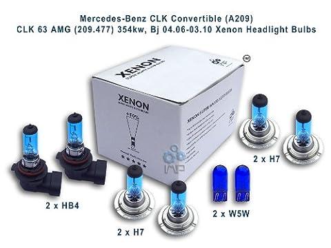 Mercedes-Benz CLK (C209) 240 (209.361) 125kw, Bj 06.02-05.09 Xenon Headlight Bulbs HB4, H7, H7, W5W